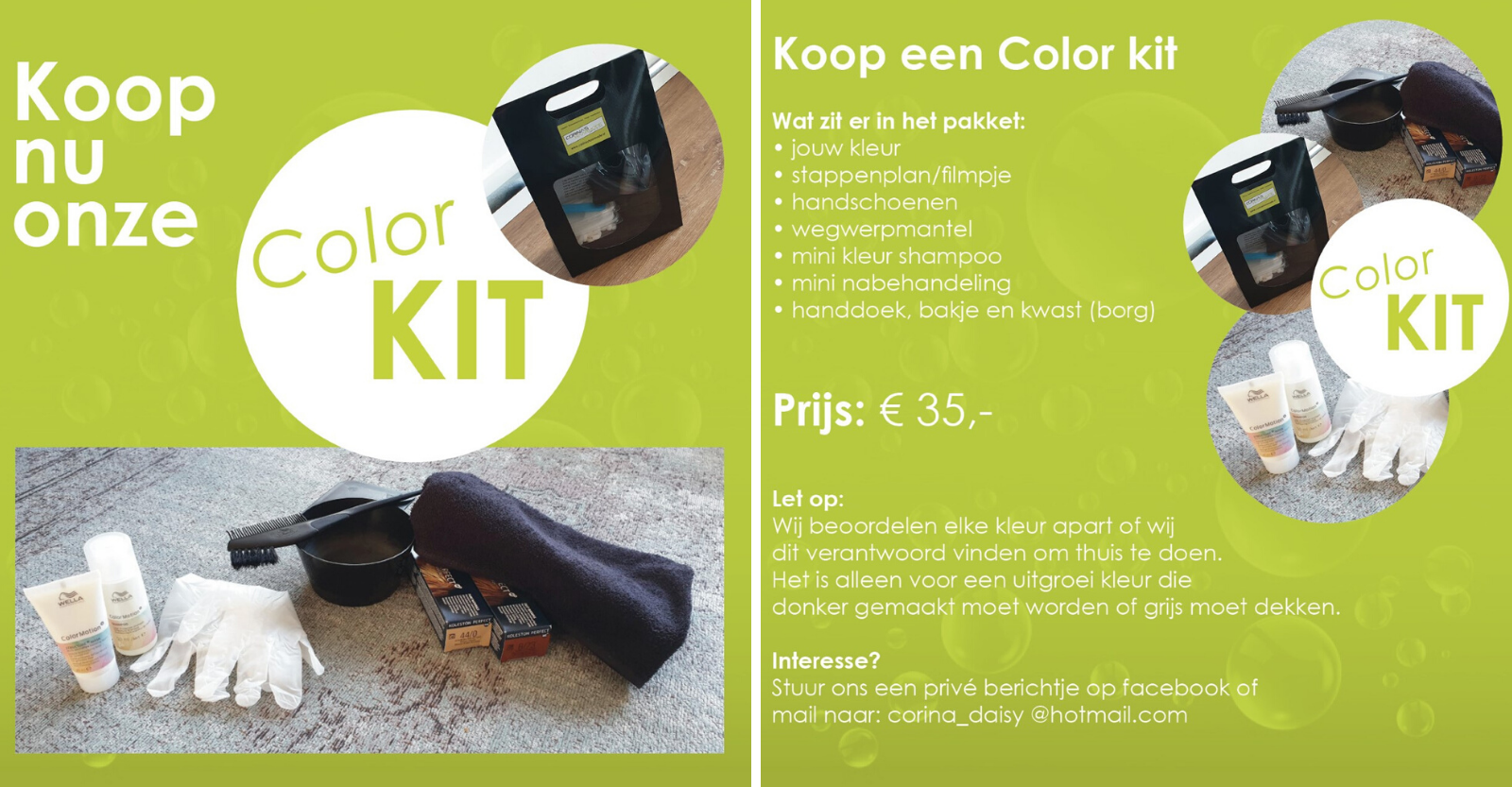 Color Kit Corinas Haarmode Oostzaan
